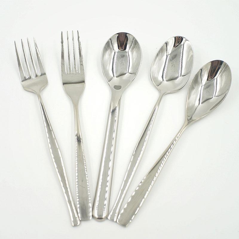 Steel handle tableware